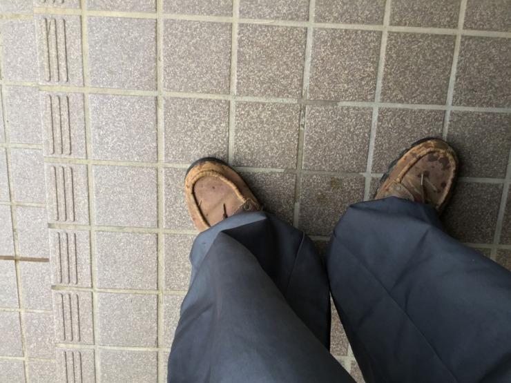 ドロつくので靴も変えてます