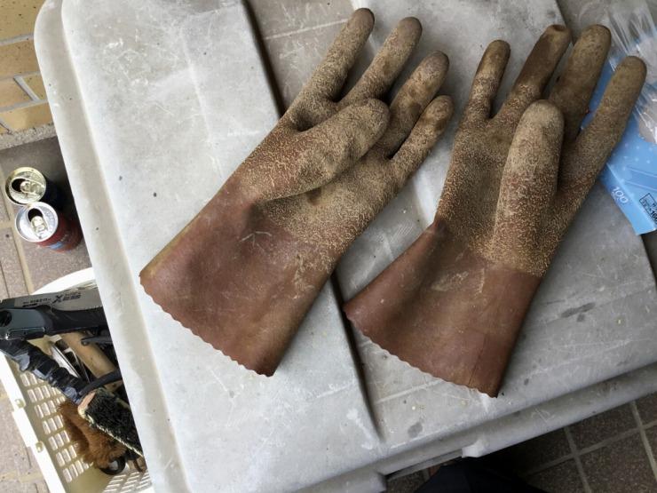 このゴム手袋は外用